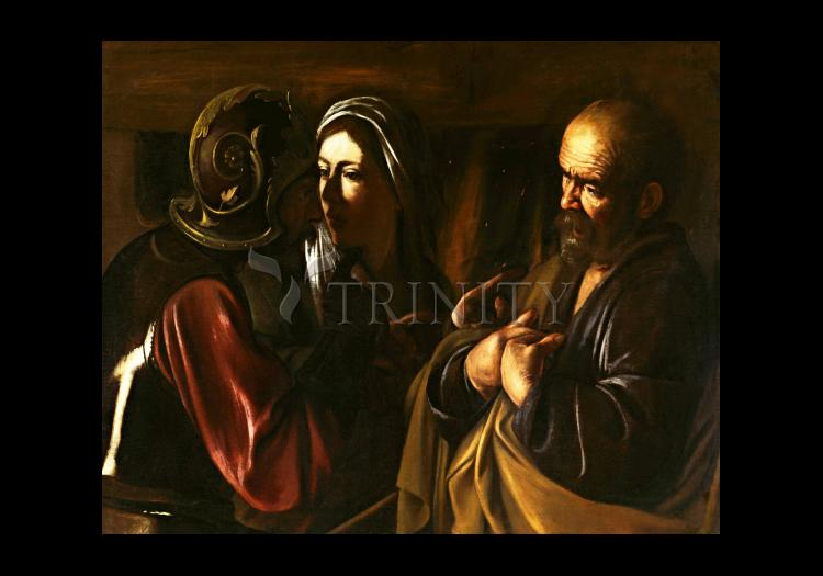 Holy Card - Denial of St. Peter by Museum Art