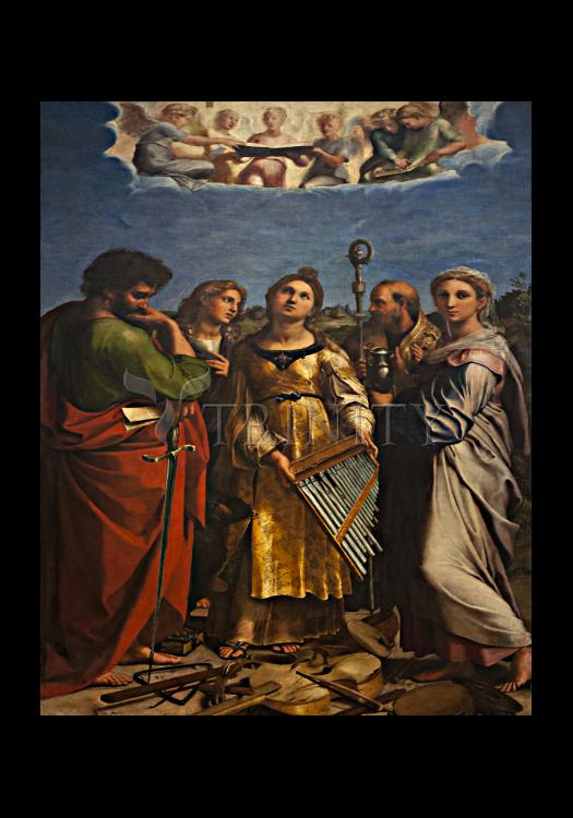 Holy Card - Ecstasy of St. Cecilia by Museum Art