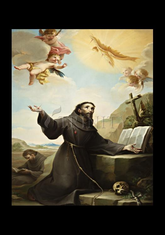 Holy Card - St. Francis of Assisi Receiving Stigmata by Museum Art