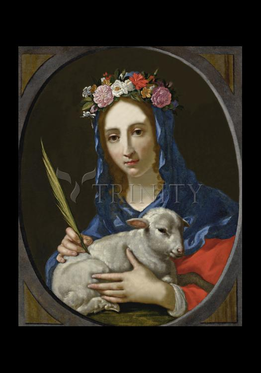 Holy Card - St. Agnes by Museum Art