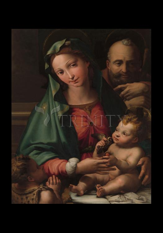Holy Card - Holy Family with Infant St. John the Baptist by Museum Art