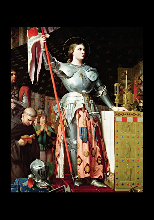 Holy Card - St. Joan of Arc at Coronation of Charles VII by Museum Art