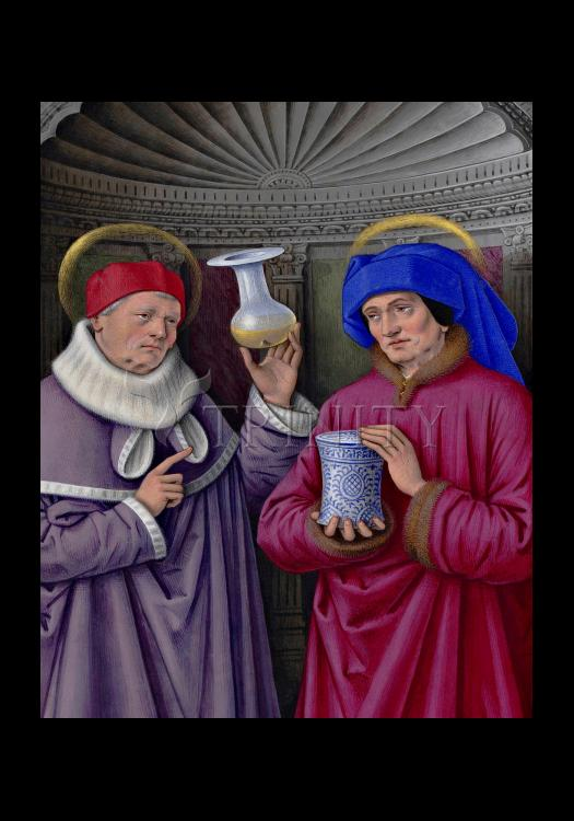 Holy Card - Sts. Cosmas and Damian by Museum Art