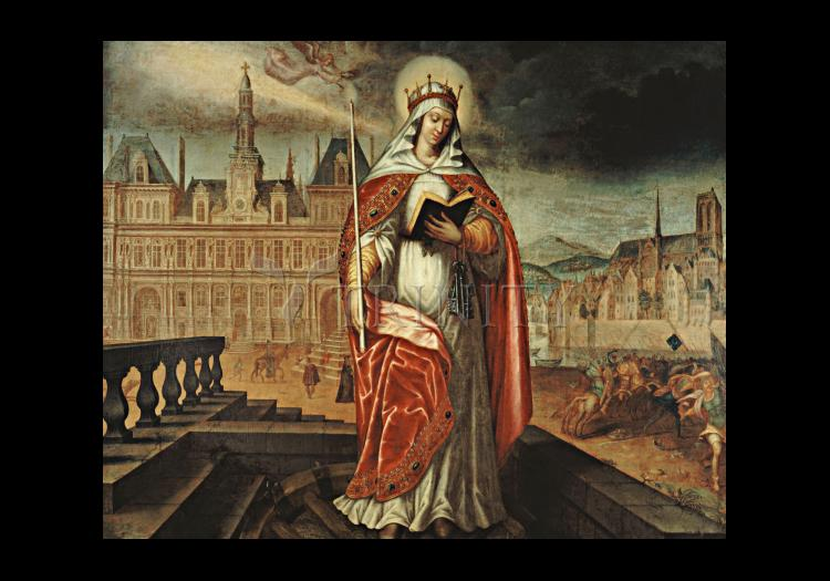 Holy Card - St. Genevieve by Museum Art
