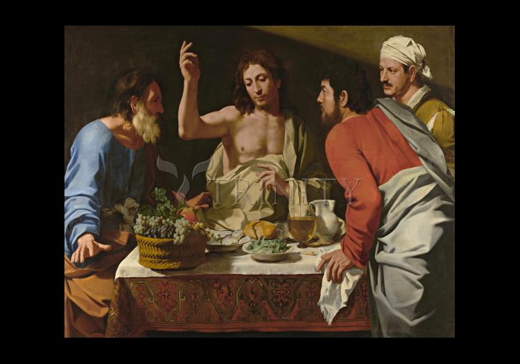 Holy Card - Supper at Emmaus by Museum Art