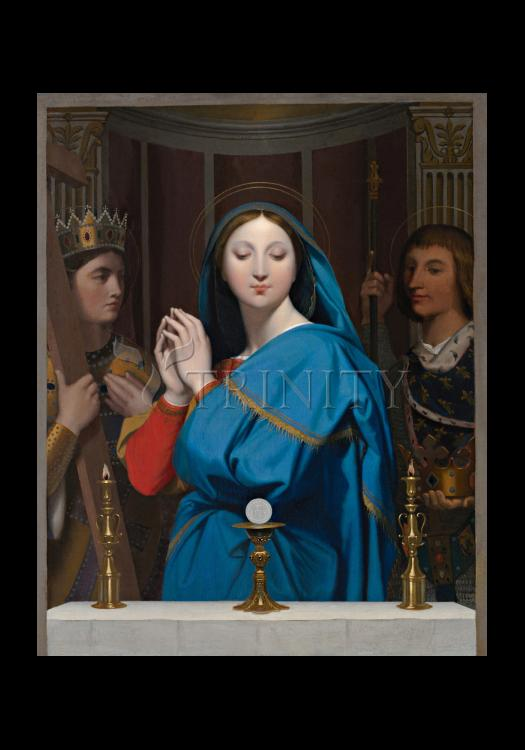 Holy Card - Mary Adoring the Host by Museum Art