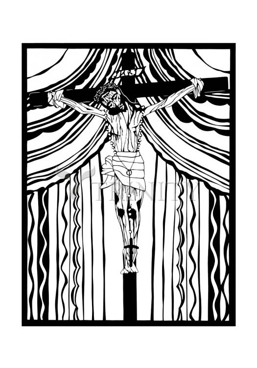 Holy Card - Cristo de Chimayó by D. Paulos