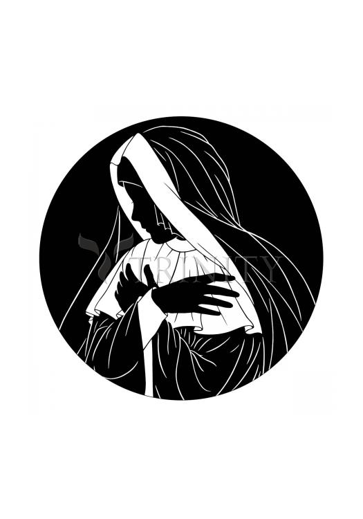 Holy Card - Mater Dolorosa by D. Paulos