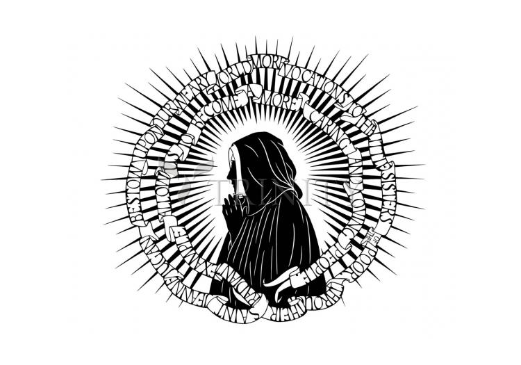 Holy Card - St. Jeanne Jugan by D. Paulos