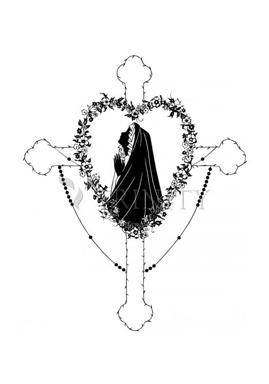 Holy Card - Our Lady of the Rosary by D. Paulos