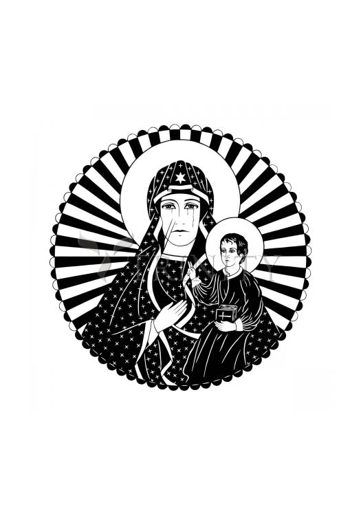 Holy Card - Mother of Poland by D. Paulos