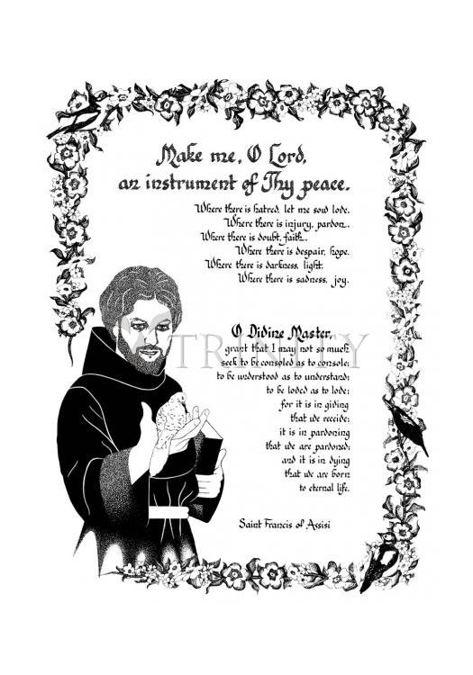 Holy Card - Prayer of St. Francis by D. Paulos