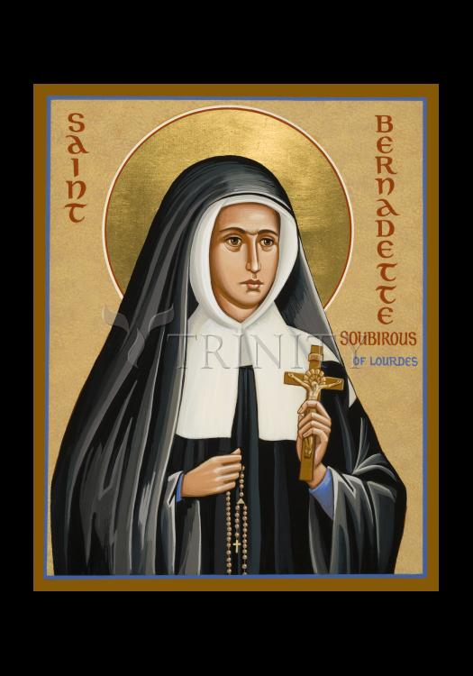 Holy Card - St. Bernadette of Lourdes by J. Cole