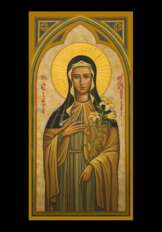 Holy Card - St. Clare of Assisi by J. Cole
