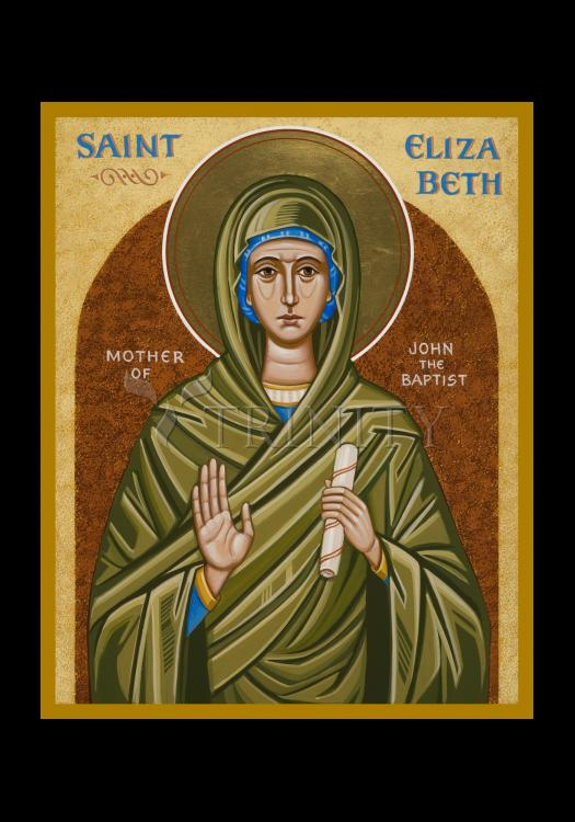 Holy Card - St. Elizabeth, Mother of John the Baptizer by J. Cole