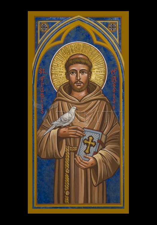 Holy Card - St. Francis of Assisi by J. Cole