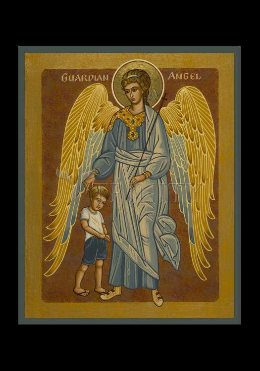 Holy Card - Guardian Angel with Boy by J. Cole