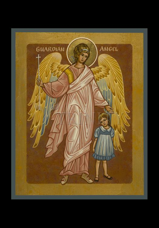 Holy Card - Guardian Angel with Girl by J. Cole
