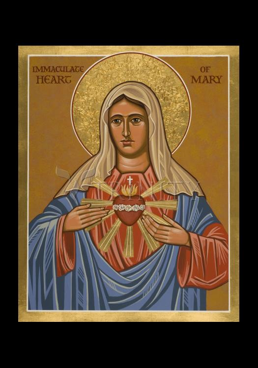 Holy Card - Immaculate Heart of Mary by J. Cole