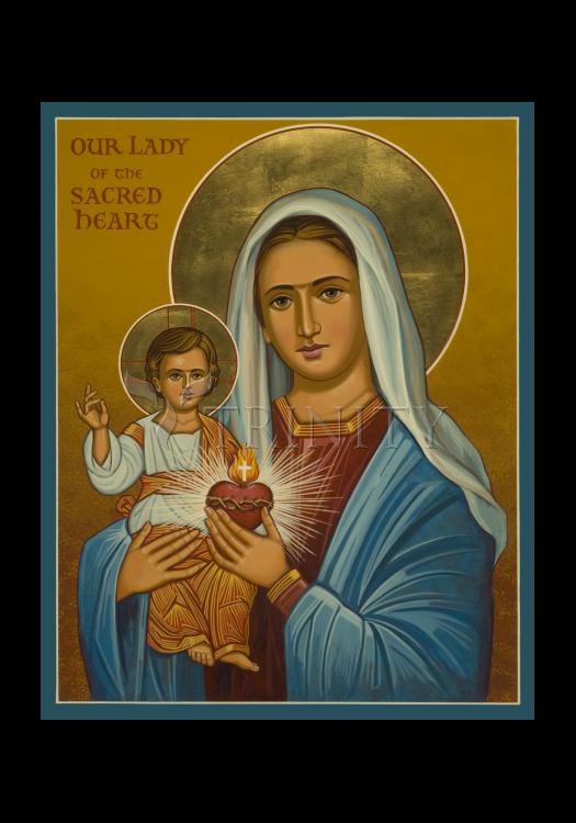 Holy Card - Our Lady of the Sacred Heart by J. Cole