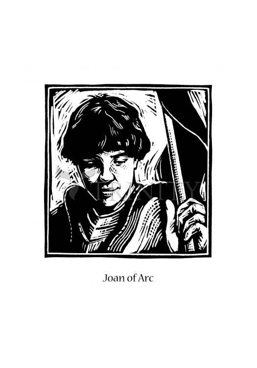 Holy Card - St. Joan of Arc by J. Lonneman