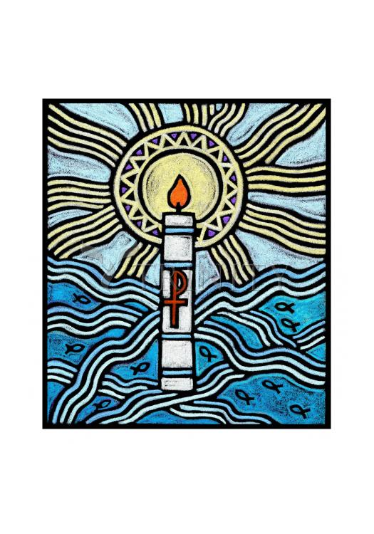 Holy Card - Baptism by J. Lonneman