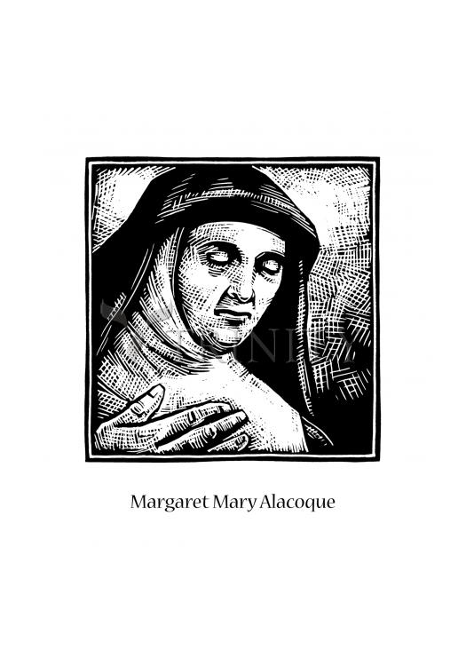 Holy Card - St. Margaret Mary Alacoque by J. Lonneman