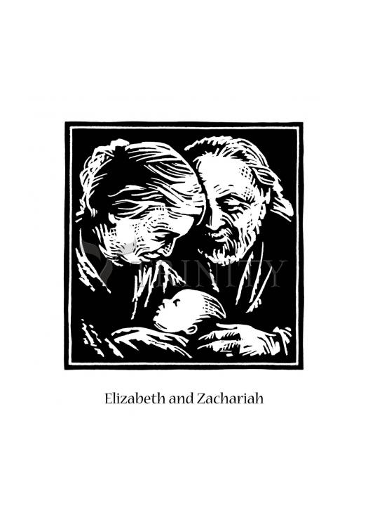 Holy Card - St. Elizabeth and Zachariah by J. Lonneman