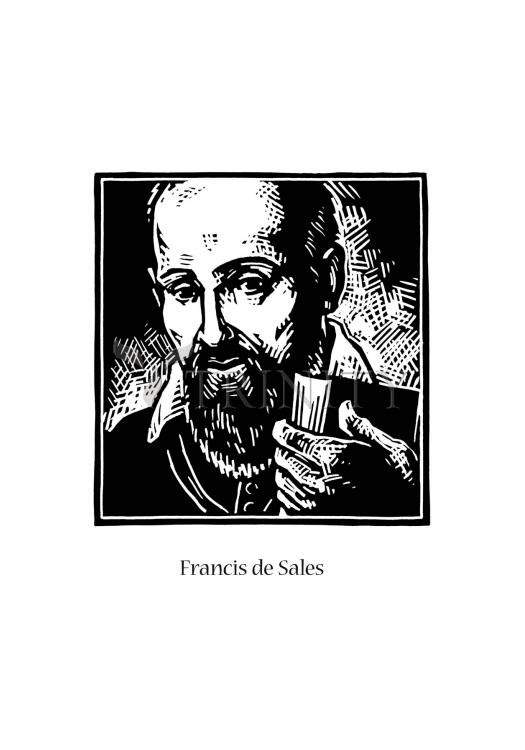Holy Card - St. Francis de Sales by J. Lonneman