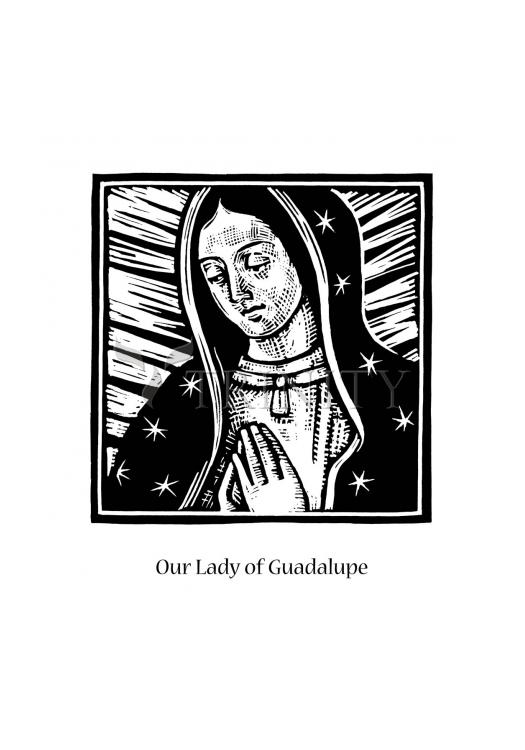 Holy Card - Our Lady of Guadalupe by J. Lonneman