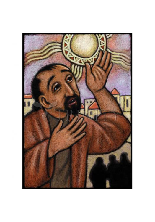 Holy Card - Lent, 4th Sunday - Healing of the Blind Man by J. Lonneman