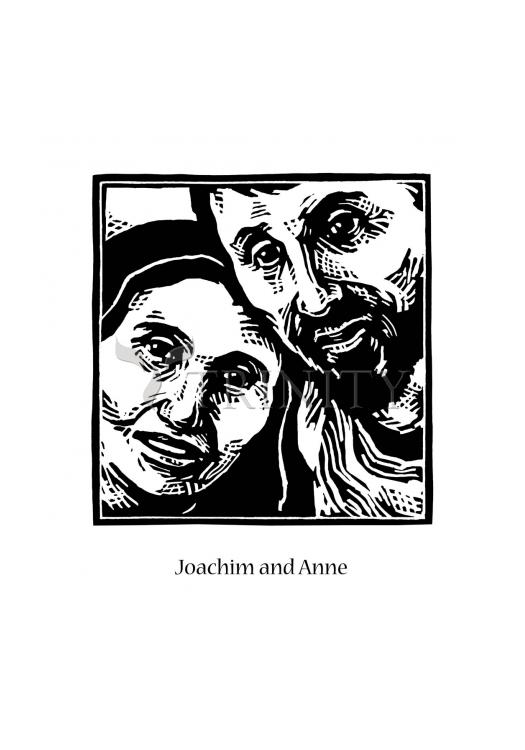 Holy Card - Sts. Joachim and Anne by J. Lonneman