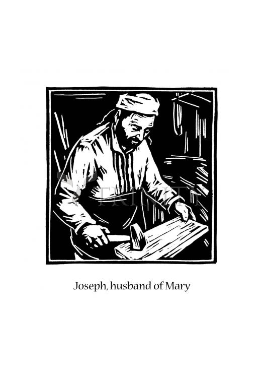 Holy Card - St. Joseph, husband of Mary by J. Lonneman