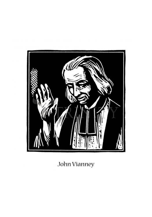 Holy Card - St. John Vianney by J. Lonneman