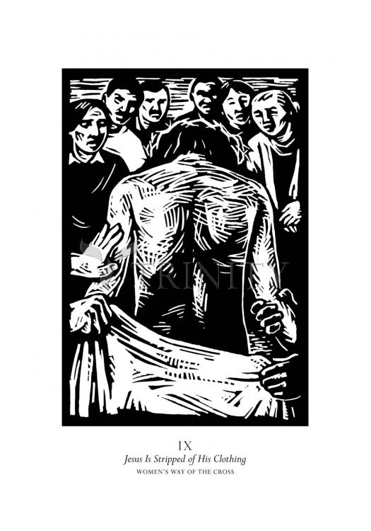 Holy Card - Women's Stations of the Cross 09 - Jesus is Stripped of His Clothing by J. Lonneman