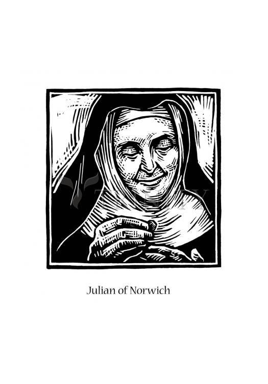 Holy Card - Julian of Norwich by J. Lonneman