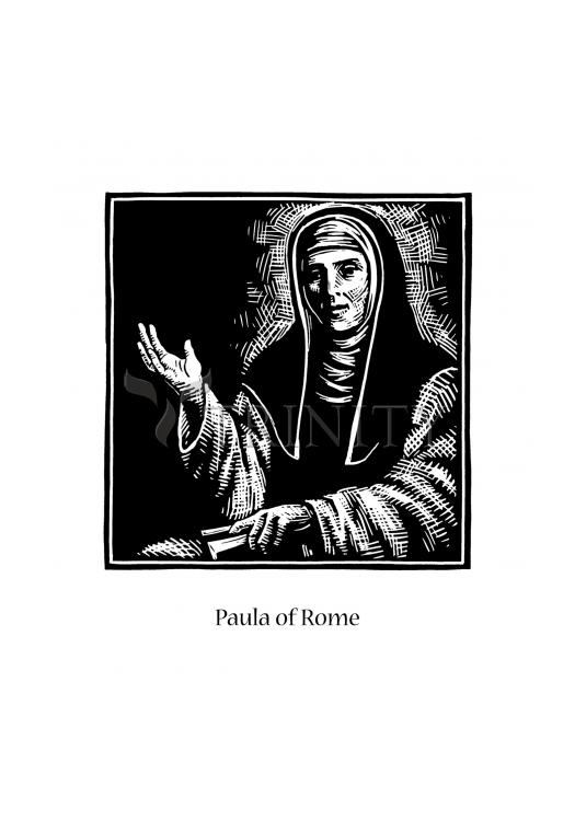 Holy Card - St. Paula of Rome by J. Lonneman