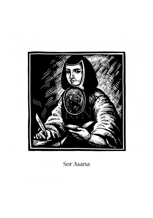 Holy Card - Sor Juana Inés de la Cruz by J. Lonneman