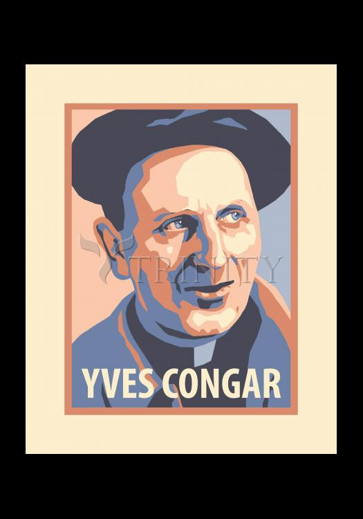 Holy Card - Yves Congar by J. Lonneman