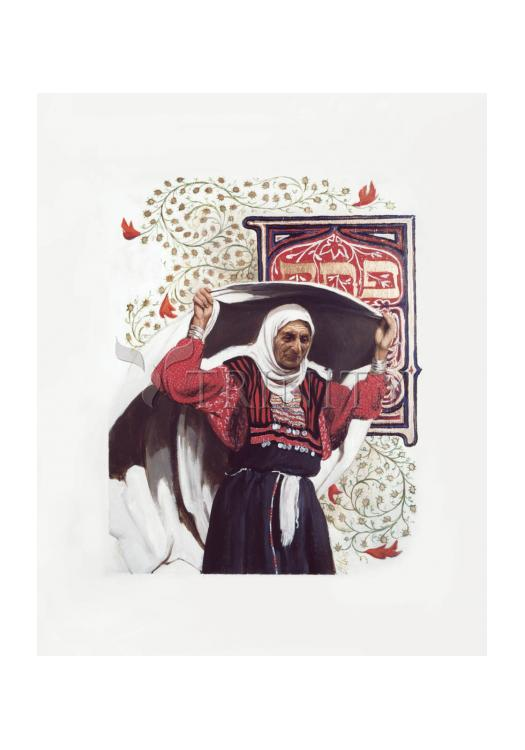 Holy Card - St. Anna the Prophetess by L. Glanzman