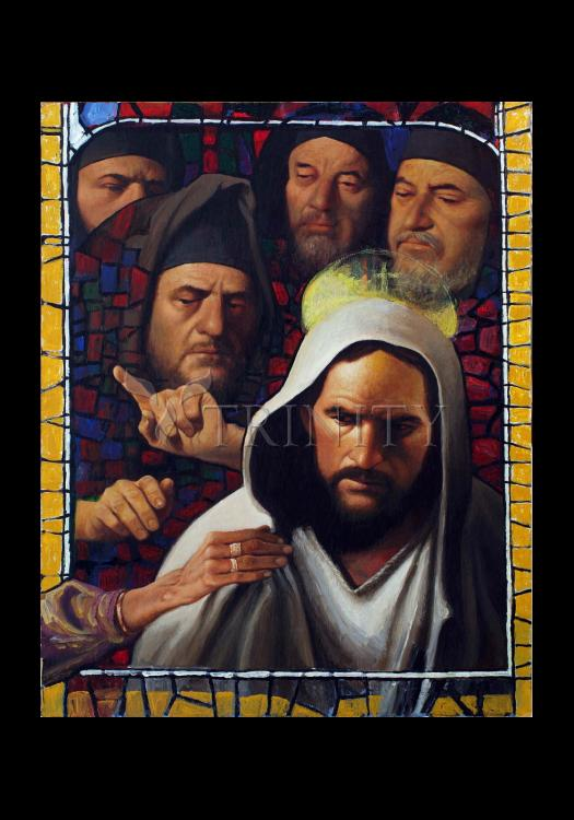 Holy Card - Jesus' Foes by L. Glanzman