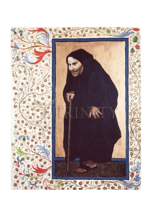 Holy Card - Infirm Woman by L. Glanzman