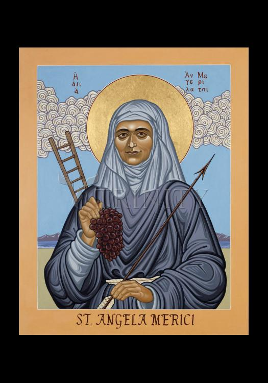 Holy Card - St. Angela Merici by L. Williams