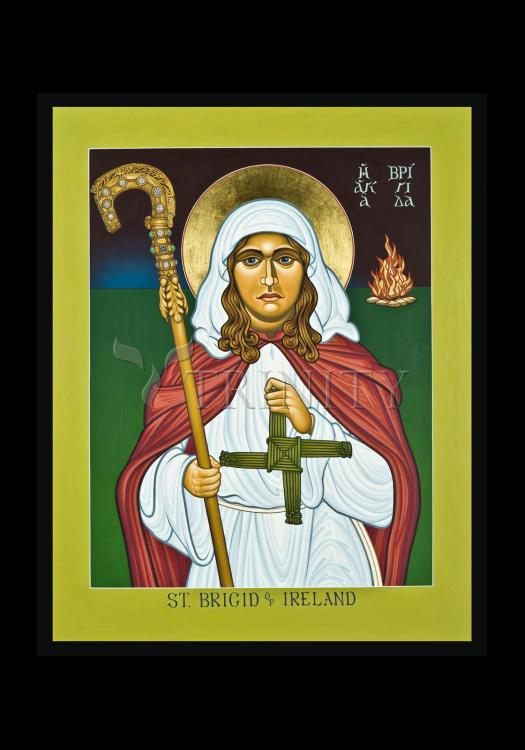 Holy Card - St. Brigid of Ireland by L. Williams