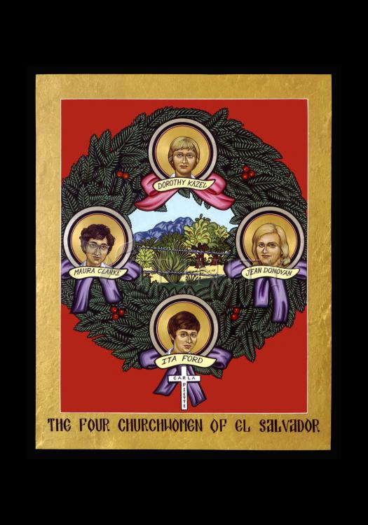 Holy Card - Four Church Women of El Salvador by L. Williams