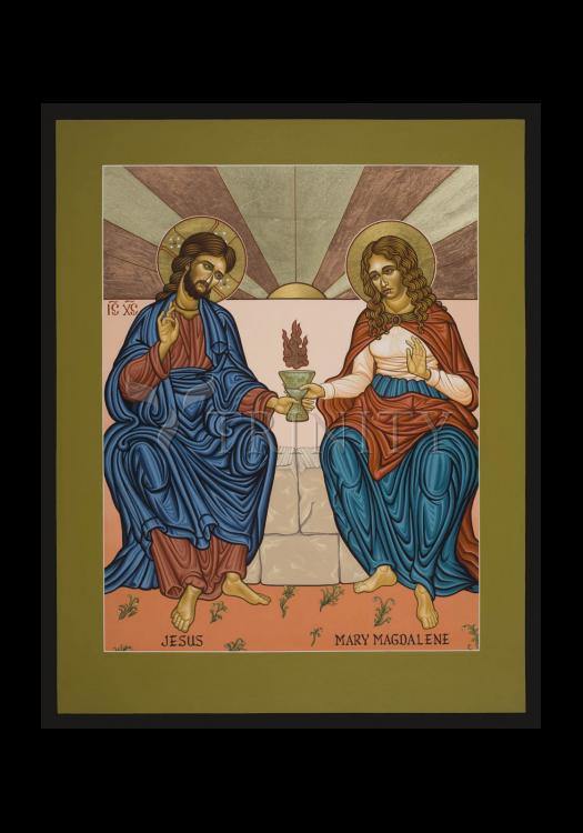 Holy Card - Jesus and Mary Magdalene by L. Williams