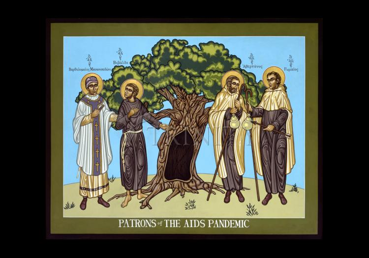 Holy Card - Patrons of the AIDS Pandemic by L. Williams