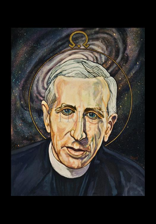 Holy Card - Fr. Pierre Teilhard de Chardin by L. Williams