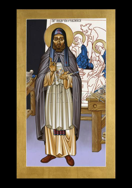 Holy Card - St. Andrei Rublev by L. Williams