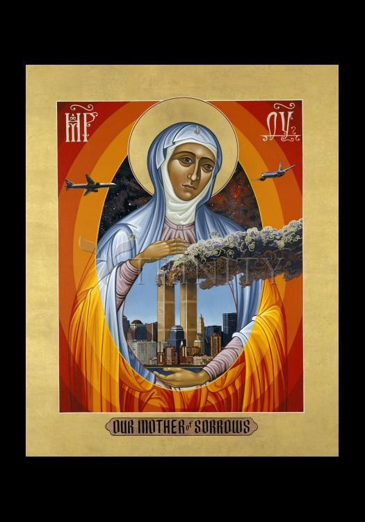 Holy Card - Mater Dolorosa - Mother of Sorrows by L. Williams